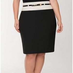 NEW Lane Bryant Pencil Skirt Black Colorblock